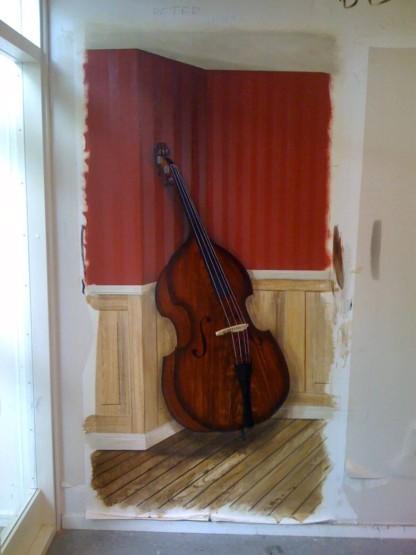 Trompe l´oeil og vægdekoration