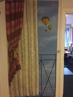 Fransk altan med luftballonner